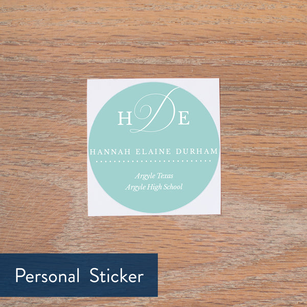 Sweet Monogram personal sticker