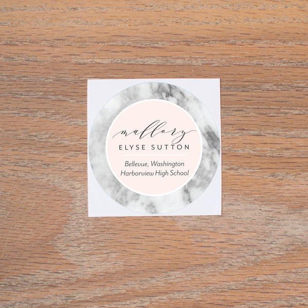 Marble Blush personal sticker