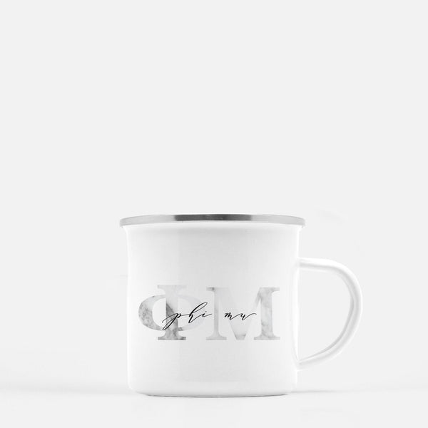 Phi Mu Metal Sorority Camp Mug