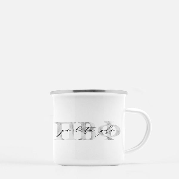 Pi Beta Phi Metal Sorority Camp Mug