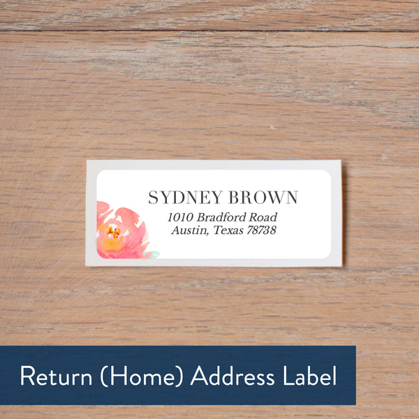 Peony Garden return address label