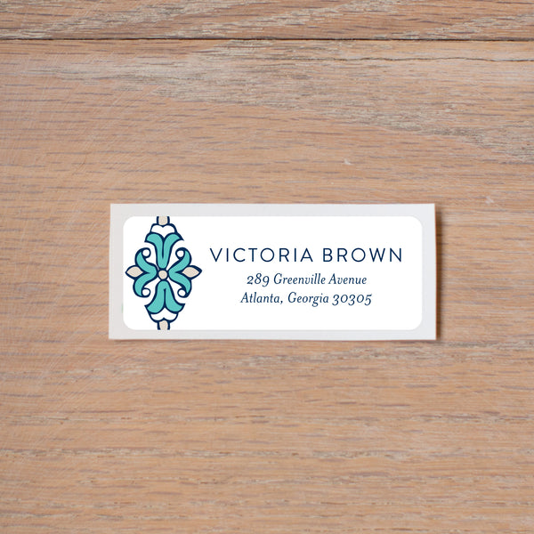 Tile Border return (home) address label