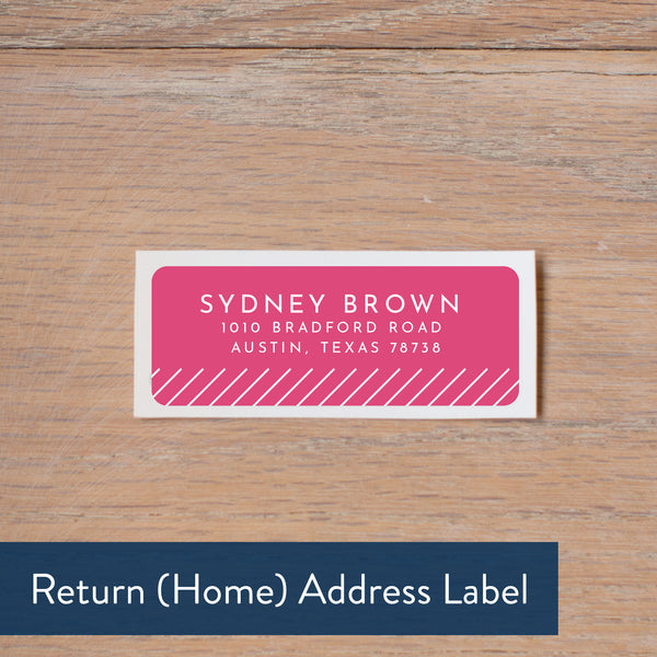 Big Name return address label