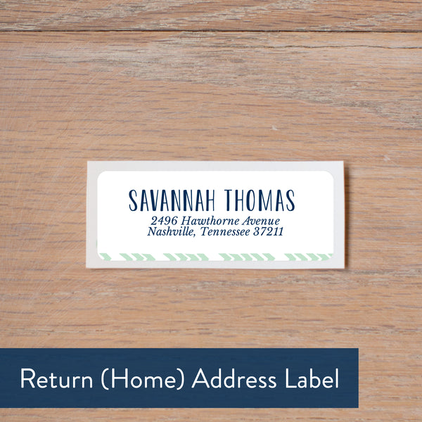 Boho Chic return address label