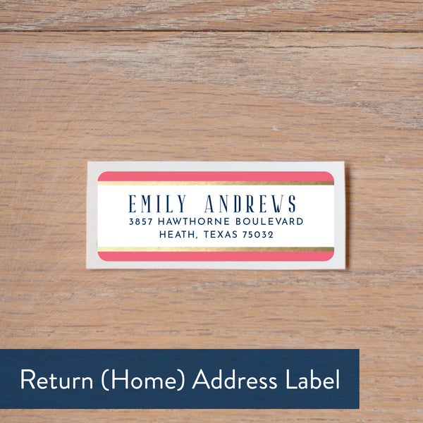 Confetti Stripes return address label