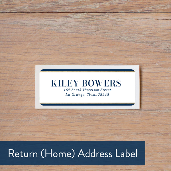 Deco Band address label