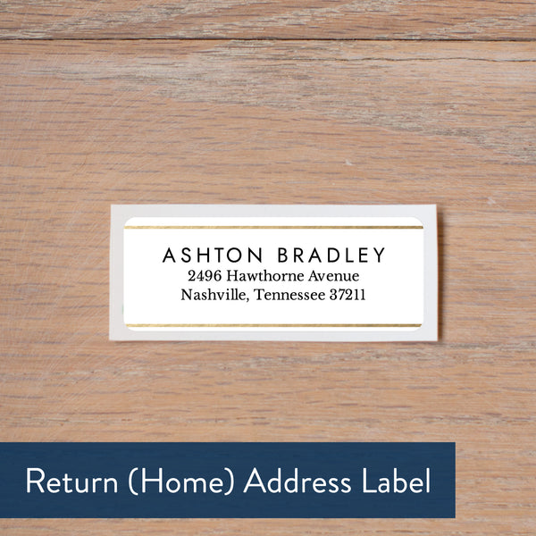 Golden Dots return address label