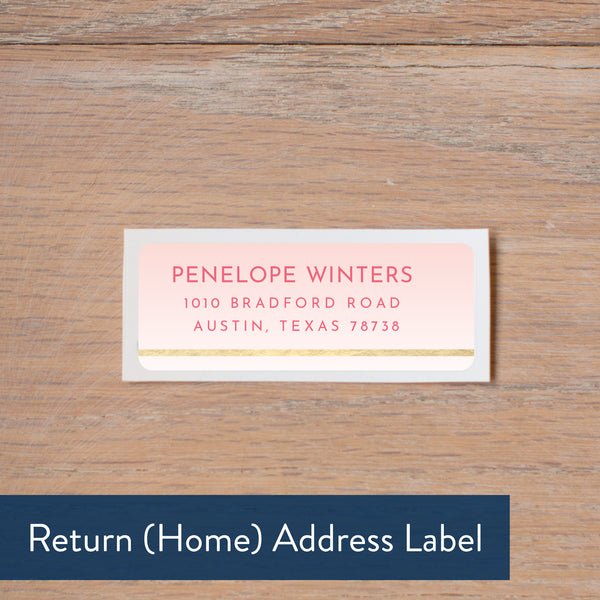 Gradient Confetti return address label