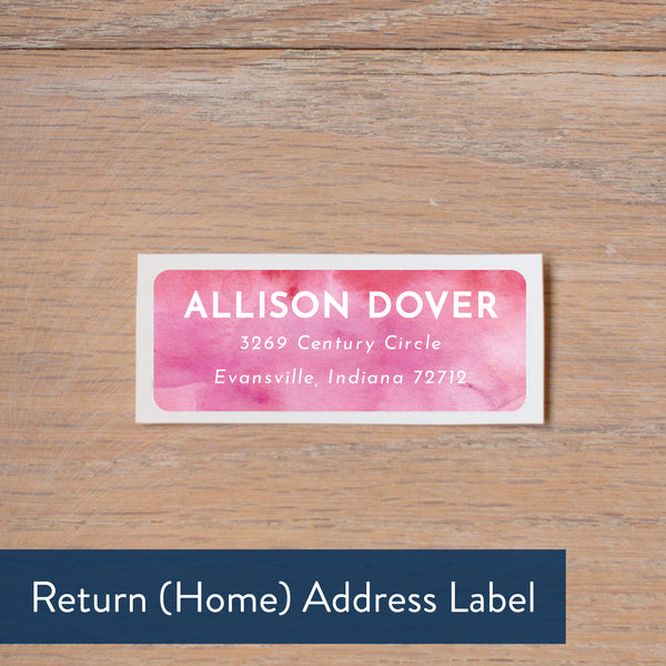 Modern Watercolor return address label