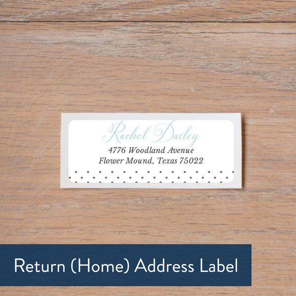 Monogram Block return address label