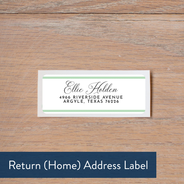 Preppy Name return address label