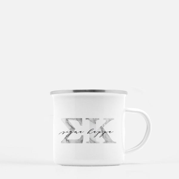 Sigma Kappa Metal Sorority Camp Mug