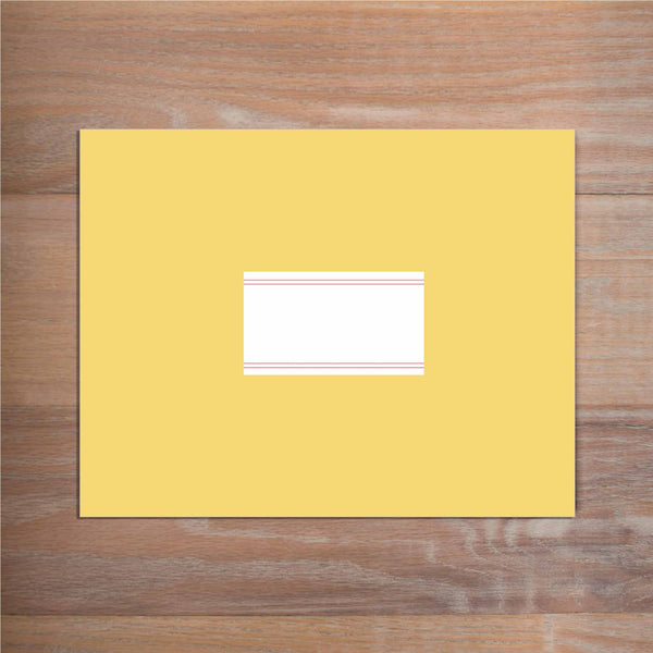 Simply Preppy mailing label shown on presentation envelope (not included in price but available as an add-on to your purchase)
