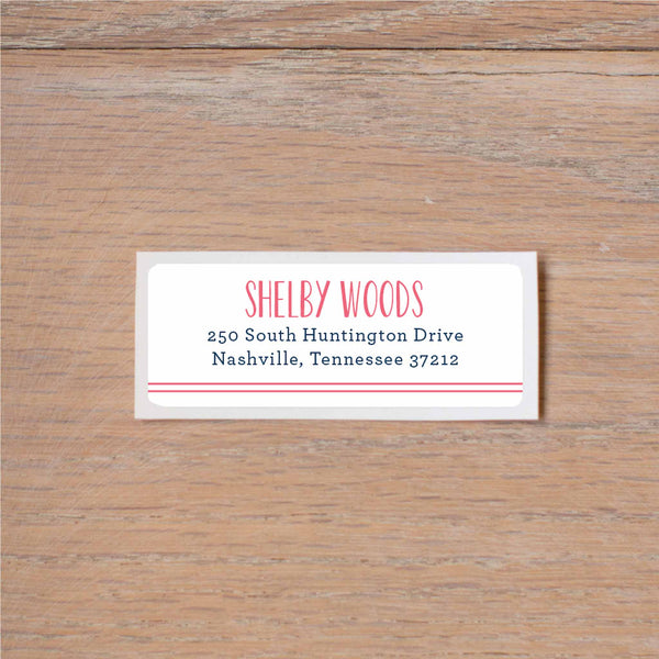Simply Preppy return (home) address label