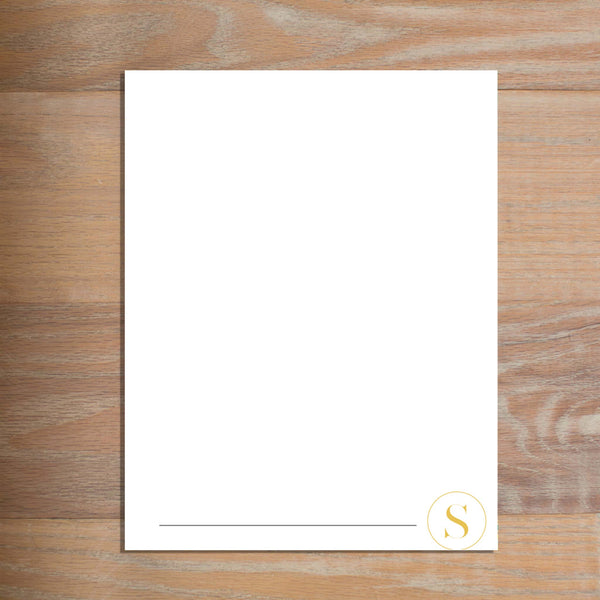 Simply Modern Initial letterhead version 3