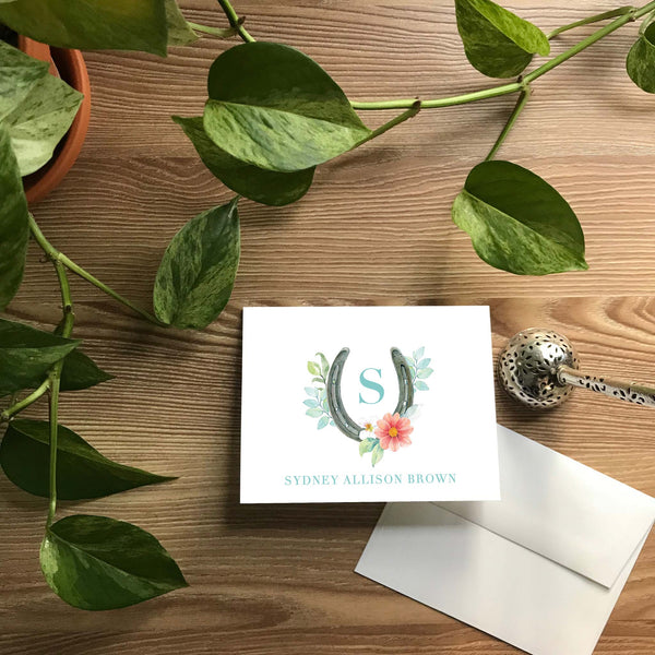 Sweet Horseshoe Folded Note Cards