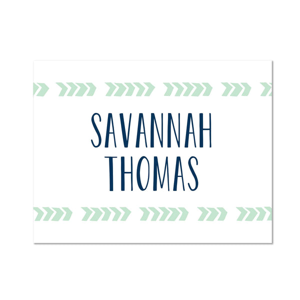Boho Chic Personalized Folder Stickers