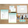 Fresh Paisley sorority packet shown with presentation envelope