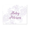 Delicate Lace Personalized Folder Stickers