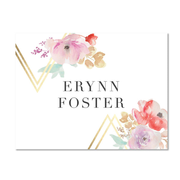 Geometric Bouquet Personalized Folder Stickers