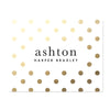 Golden Dots Personalized Folder Stickers