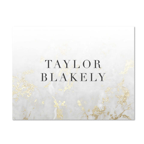 Golden Marble Personalized Folder Stickers