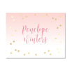 Gradient Confetti Personalized Folder Stickers