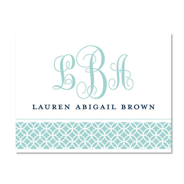 Lattice Monogram Personalized Folder Stickers