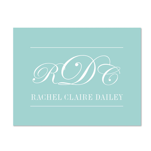 Monogram Block Personalized Folder Stickers