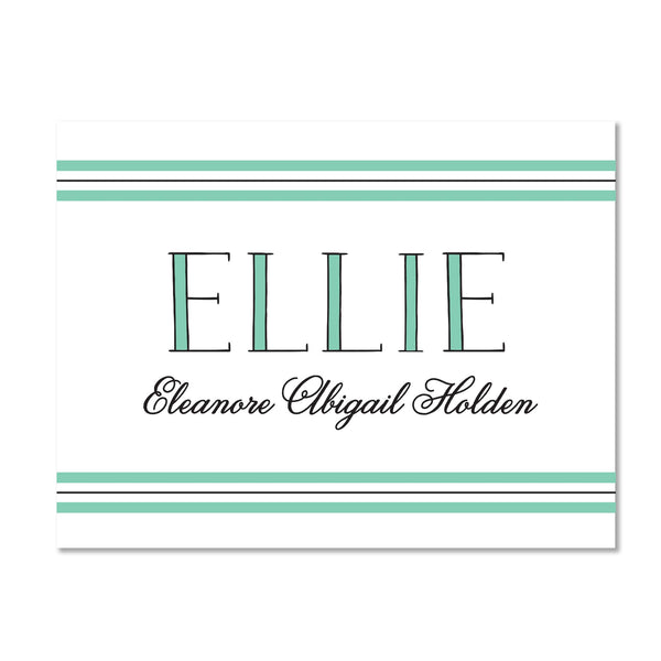 Preppy Name Personalized Folder Stickers