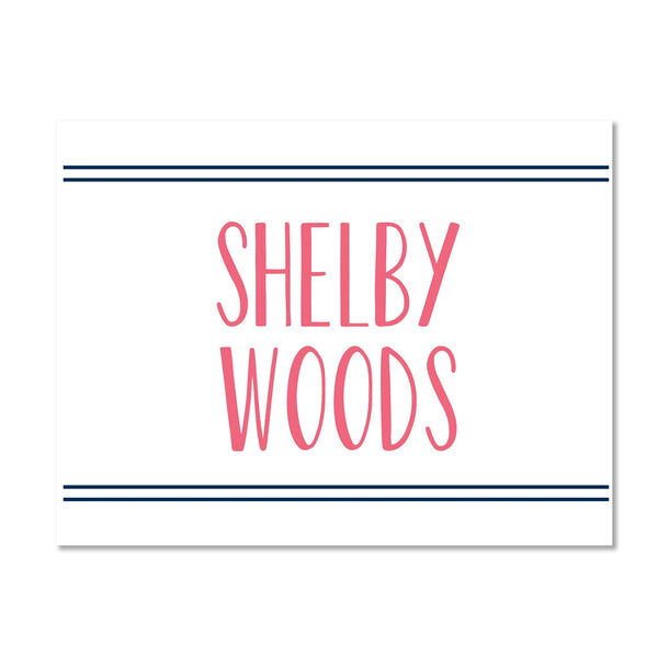 Simply Preppy Personalized Folder Stickers