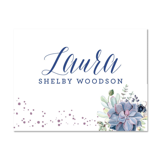 Succulent Garden Personalized Folder Stickers