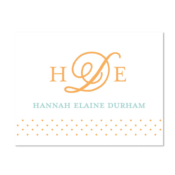 Sweet Monogram Personalized Folder Stickers