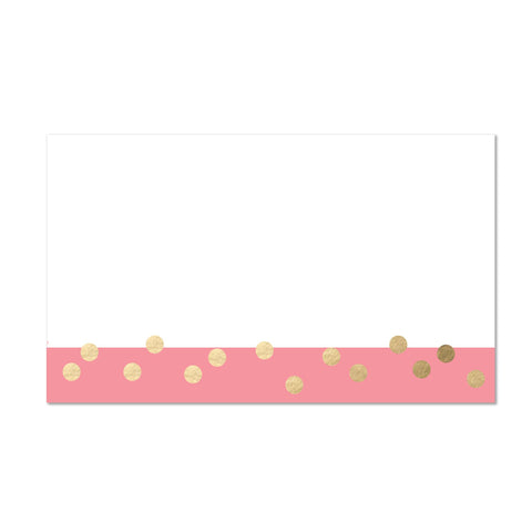 Confetti Stripes Mailing Label shown in Flamingo
