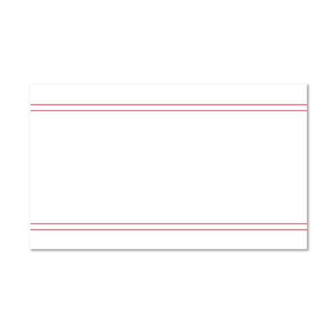 Simply Preppy sorority packet mailing label shown in Strawberry on Kraft presentation envelope