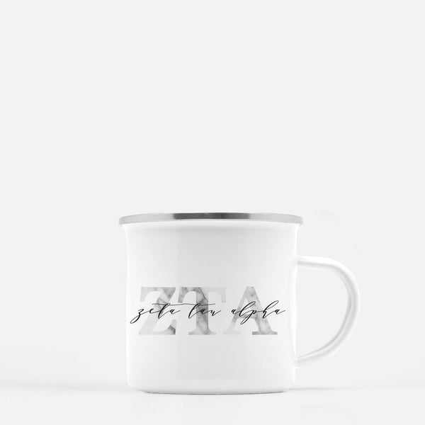 Zeta Tau Alpha Metal Sorority Camp Mug