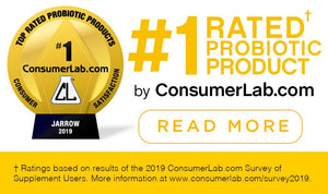 Image of an award with text: #1 rated probiotic product by consumerlab.com - read more