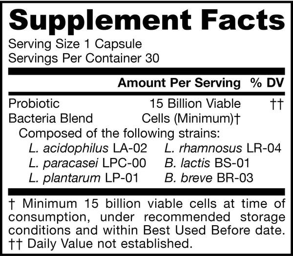 Jarro-Dophilus® Allergen Free Supplement Facts