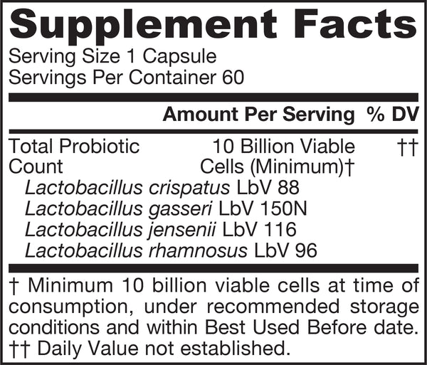Jarro-Dophilus® Women Supplement Facts