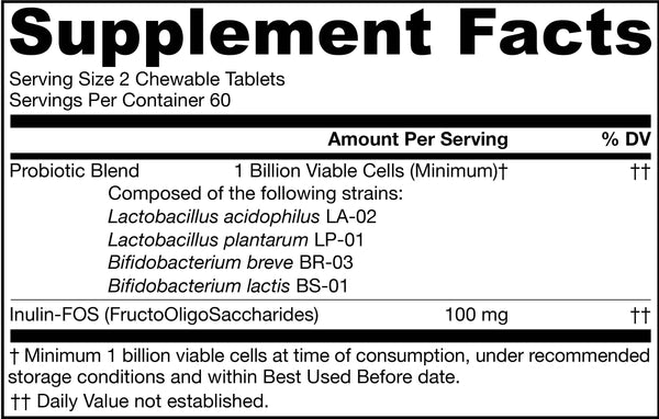 Yum-Yum Dophilus® Natural Raspberry Supplement Facts