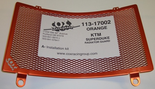 COX's Radiator Guard for KTM Super Duke S/R 2005-2013 - KTM Twins