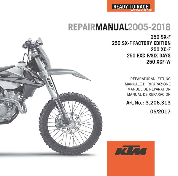 Ktm Dvd Repair  Service Manual 250 Sx  Xc  Exc
