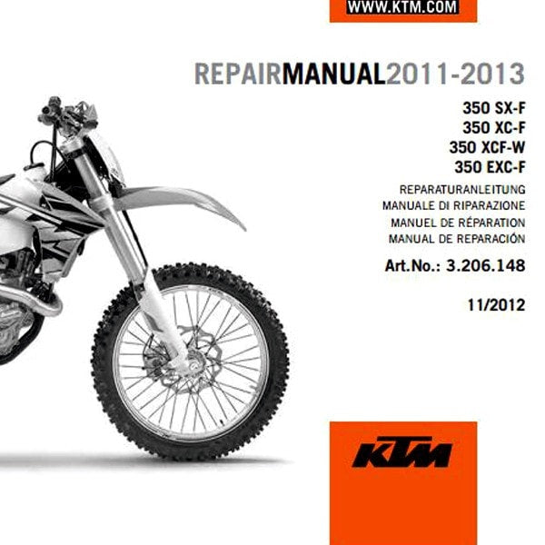 ktm 2011 2018 350 sx xc exc xcf six days service manual 3206316 Ktm 500 Exc Service Manual