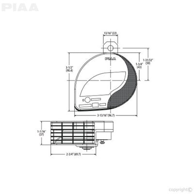 PIAA Powersports Slim Line Sports Horn (500Hz)