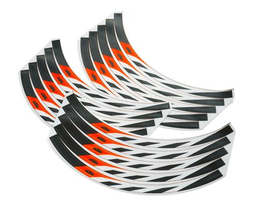 KTM Wheel Rim Sticker Kit MX/Adv/Super Adv/Enduro/SE 2002-2020