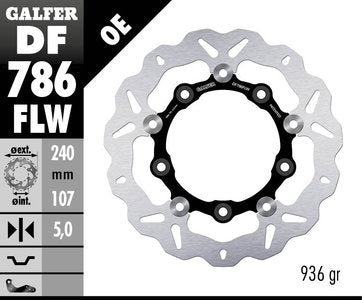Galfer 240mm Rear Floating Wave Rotor KTM 690/990 Duke/SMR/SD/SMT 2002-2015