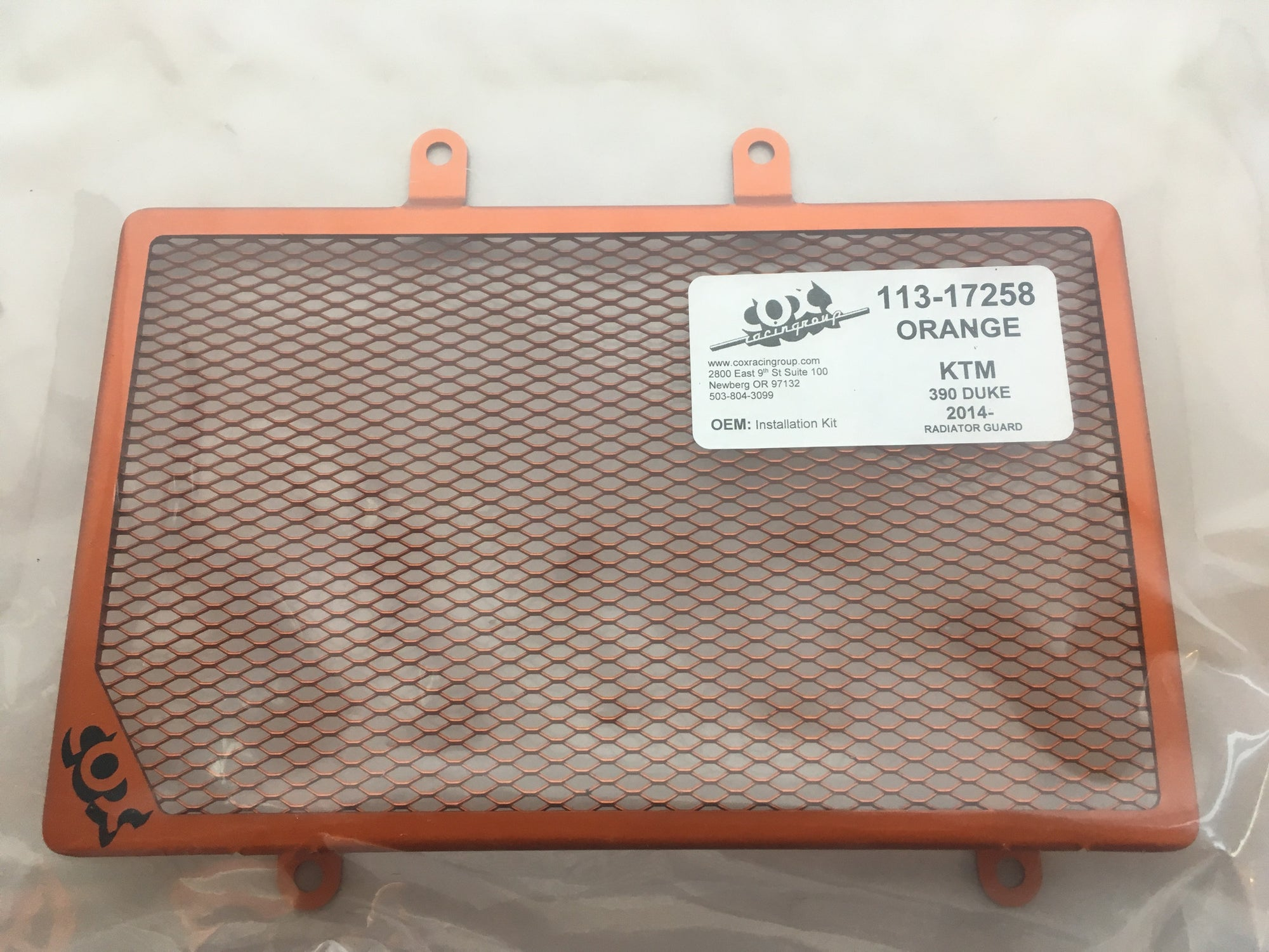 Cox's Racing Radiator Guard KTM 390 Duke 2014-2016 - KTM Twins