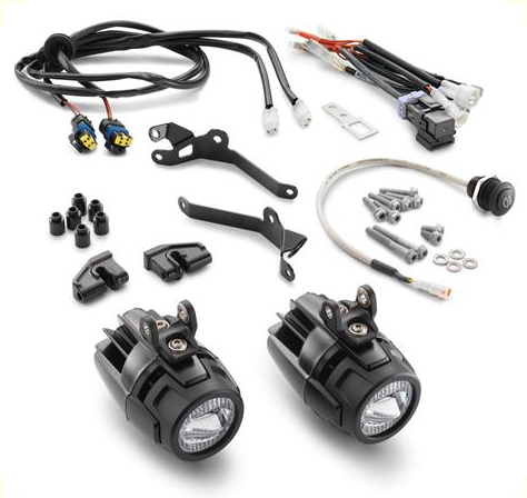 KTM Auxiliary LED Light Kit KTM 1050/1090/1190/1290 Super ADV/ADV/R on wiring home, 4 wire diagram for a string of lights, four wire can lights, wiring turn signals, wiring headlights, wire diagram for relay with auxiliary lights,
