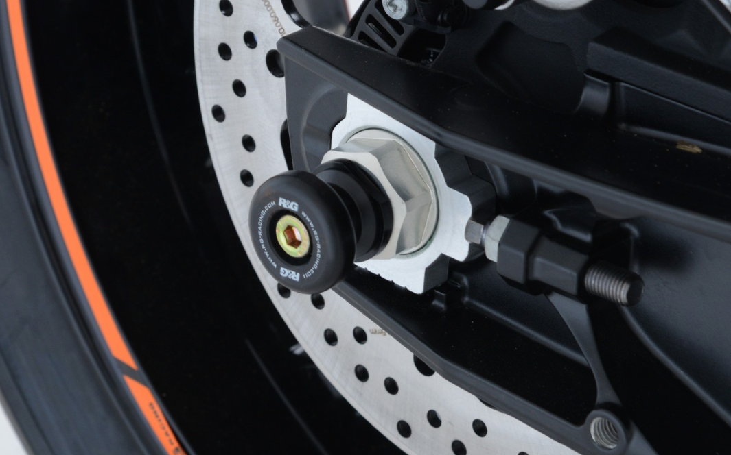 R&G Rear Axle Spindle Spool Sliders For KTM 790 Duke '18-'19 & 790 Adventure '19