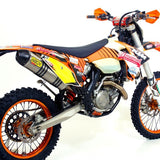 Arrow Stainless Race Collectors with Thunder Silencer KTM 450/500 EXC 2012-2013 - KTM Twins
